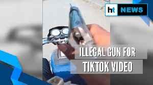Watch: Youth brandish illegal pistol for TikTok video, arrested [Video]