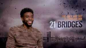 News video: '21 Bridges': Exclusive Interview With Chadwick Boseman