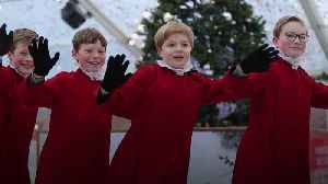 Winchester Cathedral's choristers get their skates on