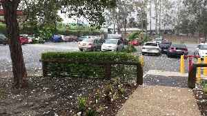 Hail Pummels Australian Carpark [Video]