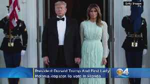 Donald And Melania Trump Register To Vote In Florida [Video]