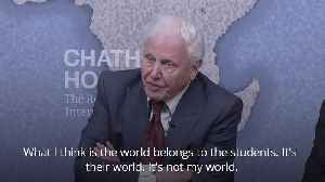 Sir David Attenborough: The world belongs to the students and not to me [Video]