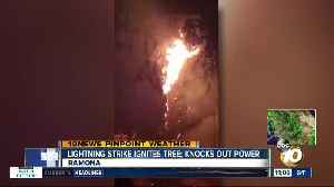 Lightning sparks tree fire in Ramona [Video]
