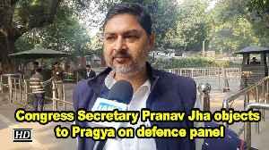 Congress Secretary Pranav Jha objects to Pragya on defence panel [Video]