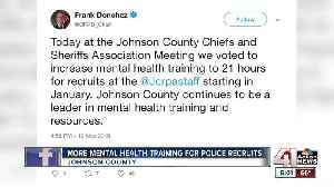 Overland Park police chief announces increase in mental health training for recruits [Video]