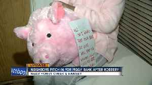 After thief steals little girl's piggy bank, 'The Bank Fairy' replaces it and neighbors help fill it [Video]