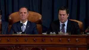 Schiff, Nunes spar in last scheduled public hearing [Video]