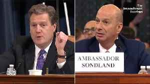"""Sondland: """"No One On This Planet"""" Told Him Aid Was Tied To Investigations [Video]"""