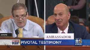 Ambassador Gordon Sondland Confirms There Was Quid Pro Quo For Ukraine Aid [Video]