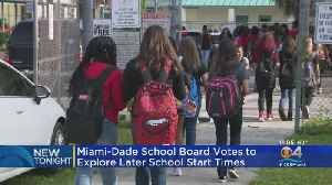 Miami-Dade School Board Votes To Explore Later School Start Times [Video]