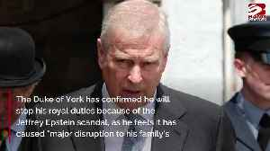 Prince Andrew steps down from royal duties [Video]