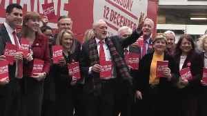 Jeremy Corbyn arrives for Labour manifesto launch [Video]