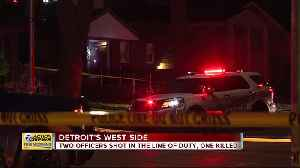 News video: 2 Detroit Police Department officers shot, 1 killed on city's northwest side