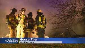 Vacant Home Destroyed By Fire In Brooklyn Center [Video]