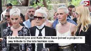 Cara Delevingne and Kate Moss' tribute to Karl Lagerfeld [Video]