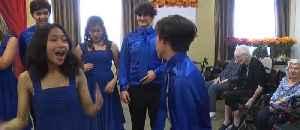 Liberty choir sings for seniors [Video]