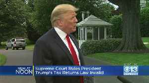 California Justices Reject Law Requiring Trump Tax Returns [Video]