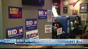 Dems gather to watch debate [Video]