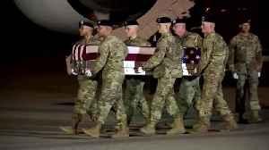 News video: Trump honors two soldiers killed in Afghanistan