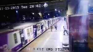 Woman survives after falling off platform edge while trying to board moving train in Mumbai [Video]