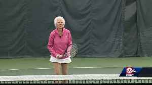 90-year-old tennis player still going strong [Video]