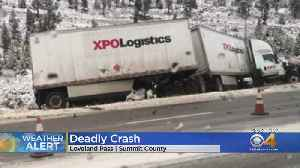 Deadly Crash Closes Highway 6 Over Loveland Pass [Video]