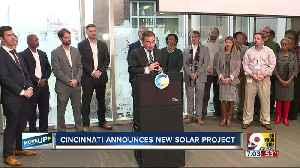 City of Cincinnati announces solar energy project [Video]