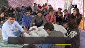 Ayush college students stage protest against fee hike protest enters day 53 [Video]