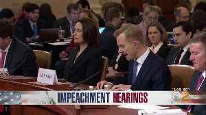 News video: Trump Impeachment Inquiry Wraps Up Testimony