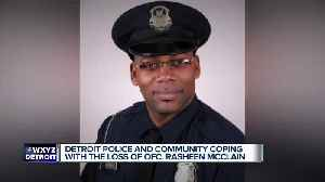 News video: Detroit police and community coping with the loss of Officer Rasheed McClain