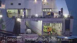 Lorry owner and driver 'co-operating fully' after 16 men found in trailer on ferry [Video]