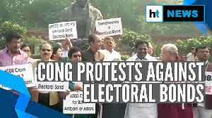 News video: Electoral bonds row escalates, Congress protests outside Parliament