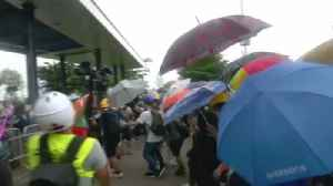 News video: Hong Kong Man Memorializes Struggle with Thumb Pianos Made from Protester Umbrellas