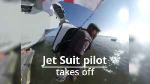 Jet Suit inventor takes off from HMS Queen Elizabeth [Video]
