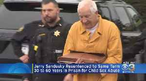 Jerry Sandusky Resentenced To Same Term For Child Sex Abuse [Video]