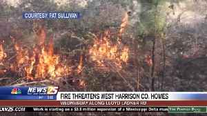 Brush Fire Put Out After Threatening Homes in West Harrison County [Video]