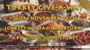 Free Turkey Give-A-Way [Video]