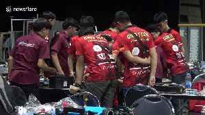 Sparks fly at robot battle competition in Bangkok [Video]