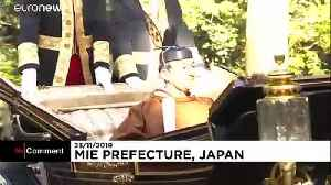 Japanese imperial couple hold enthronement ceremonies in sanctuary of Ise [Video]