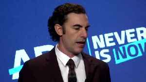 News video: Sacha Baron Cohen chastises big tech for spreading lies