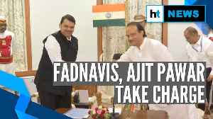 News video: Devendra Fadnavis & Ajit Pawar after taking oath as CM & Deputy CM