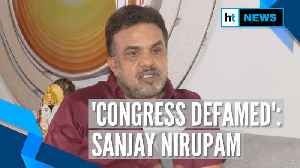 News video: Congress has been defamed, Shiv Sena alliance a wrong move: Sanjay Nirupam