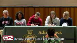 Two Adirondack students sign NLIs [Video]