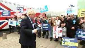 Boris Johnson arrives ahead of manifesto launch [Video]