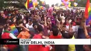 Joyful scenes at New Delhi pride — but marchers still lack 'acceptance' [Video]