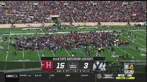 News video: Harvard-Yale Game Delayed At Halftime By Student Climate Protest