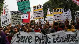 Hundreds march in India to demand 'affordable education for all' [Video]