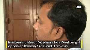 West Bengal college appoints Muslim Sanskrit professor [Video]