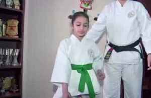 Eight-year-old smashes tile-breaking and origami world records [Video]