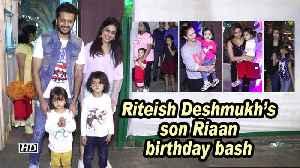 Riteish Deshmukh's son Riaan birthday bash: Aaradhya, Misha, Nitara, laksshya attend [Video]